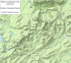 Appalachian Trail Massachusetts Map by Notable Natural Features U2013 Maine Appalachian Trail Land Trust