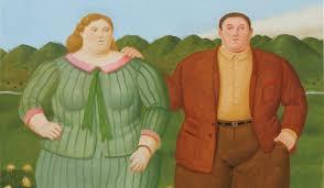 a contemporary botero recalls grant wood and jan van eyck