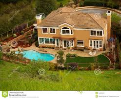 luxury home with pool in the backyard royalty free stock image