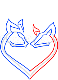 how to draw a deer heart tattoo step by step tattoos pop