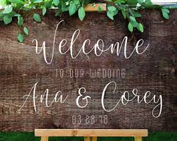 diy wedding signs diy wedding sign etsy