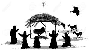 free silhouette images black silhouette nativity scene and shepherds royalty free