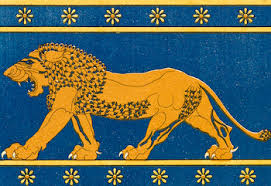 lion rug or wall hanging