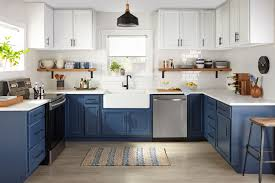 joanna gaines farmhouse kitchen with cabinets modern blue farmhouse kitchen the finish by kilz