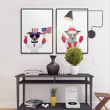 aliexpress com buy art print funny animal dog home decoration