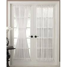 French Lace Kitchen Curtains The Reverie Semi Sheer Door Panel Curtains Are Available In White