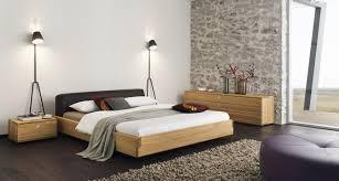 schlafzimmer naturholz team 7 nox bett aus edlem naturholz mit betthaupt in leder oder