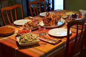 a thanksgiving feast festival foods