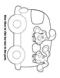 blue around the town colouring book nick jr