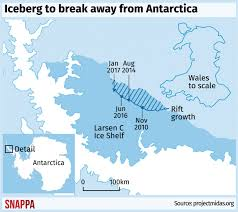 a iceberg is poised to in antarctica the news
