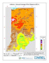 Maps Of Indiana Windexchange Wind Energy Maps And Data