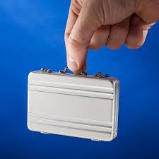 Business Cards Mini Mini Briefcase Business Card Case Thinkgeek