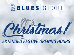 blues store extended festive opening hours