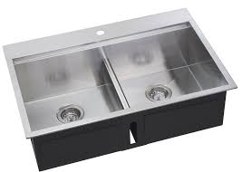 dual mount kitchen sink ss ot d33 dual mount ledge series double bowl kitchen sink stainless