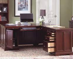 Dark Wood Office Desk Executive Office Desk Suite In Dark Cherry Wood Real Wood Office