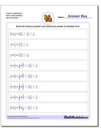 fraction printable worksheets fraction multiplication