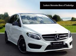 mercedes benz b class b 200 d amg line premium plus white 2017