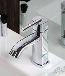 crystal handle bath faucet by giulini in matte black