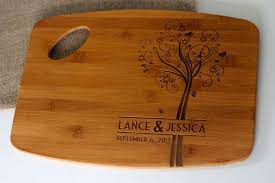 cutting board with recipe engraved personalized engraved cutting board with family tree tree design