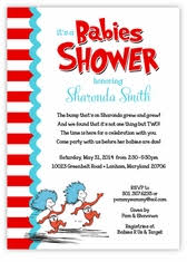 thing 1 and thing 2 baby shower personalized themed baby shower invitations s card