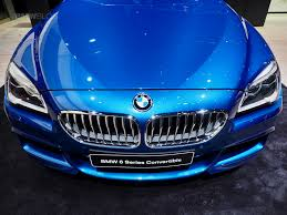 bmw 6 series convertible in sonic speed blue at 2017 detroit auto