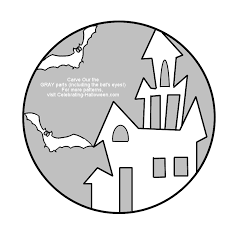 haunted house clipart pumpkin stencil pencil and in color