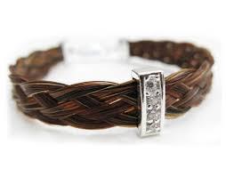 jewelry made from hair gemosi harmony hair bracelet with pretty narrow sparkler