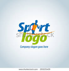 sport logotype template sports club running stock vector 293225429