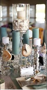 Beach Centerpieces For This Beach Centerpiece Water And Floating Candles Are Added