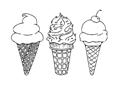 printable coloring sheet instant download ice cream cones