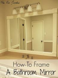 Bathroom Mirror Ideas Diy by Bathroom Rectangular White Framed Bathroom Mirror With Lighting