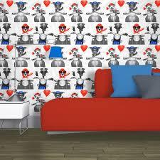 Bedroom Design Liverpool Girls Chic Wallpaper Kids Bedroom Feature Wall Decor Various