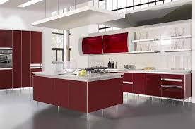 Red Kitchen Backsplash Black And Red Kitchen Design Caruba Info