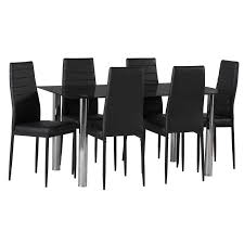 Dior Black Glass Dining Table   X Betty Dining Chair  Decofurn - Black glass dining room sets