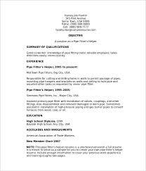 pipefitter resume templates free u0026 premium templates creative