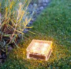 china yellow outdoor led solar ice rock crystal glass landscape