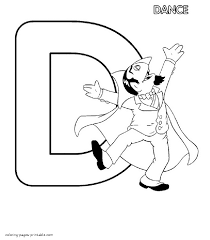 count von count is dancing coloring page the letter d