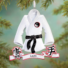 personalized karate ornament personalized ornament kimball