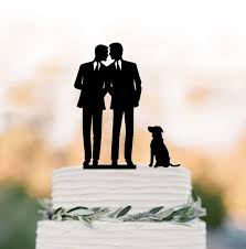 same wedding toppers wedding cake topper with dog silhouette wedding cake