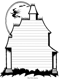 printable spooky house haunted house clipart outline pencil and in color haunted house