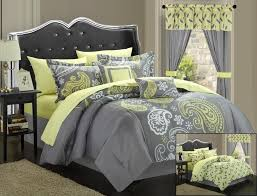 bedroom deluxe gray bedding sets ideas featuring chromed metal