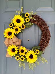 sunflower wreath sunflower front door wreath sunflower wreath sunflower