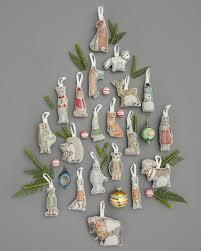 coral and tusk fox keepsake ornament