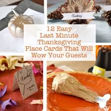 12 easy last minute thanksgiving place cards that will wow your