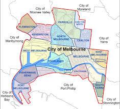 Melbourne Tram Map City Of Melbourne Australia Boundary Map Melbourne Australia
