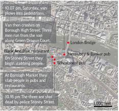 borough market attack timeline how events unfolded in london u0027s latest attack news 1130