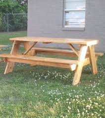 How To Make Picnic Bench How To Build A 6 Foot Picnic Table Jays Custom Creations