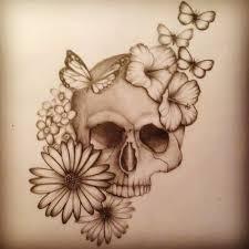 feminine flowers and skull tattoos on arm fresh 2016 tattoos