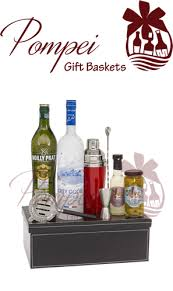 martini gift basket martini madness vodka gift basket by pompei baskets
