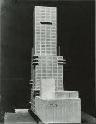 Chicago Tribune News Desk Walter Gropius And Adolf Meyer Competition Entry To The Chicago
